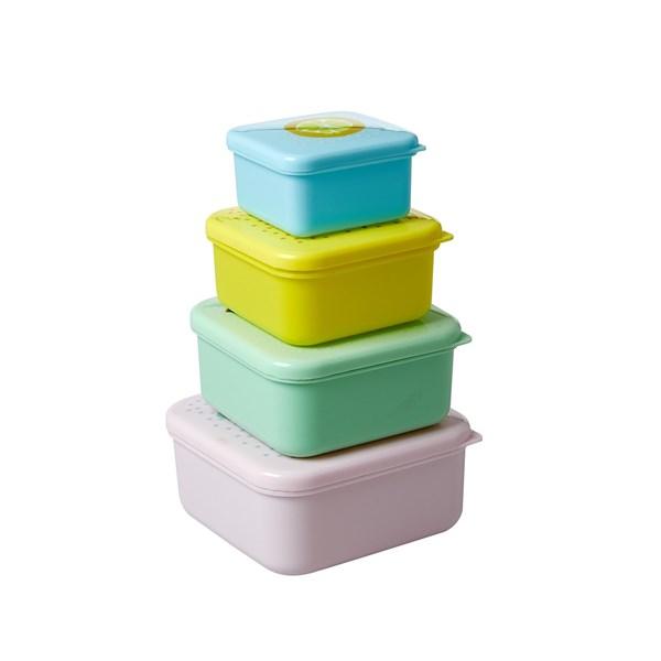 Rice Matlådor 4-pack Fruit Print