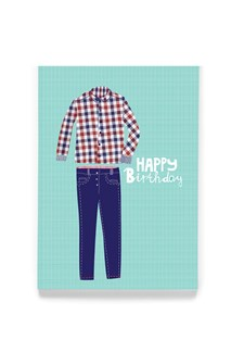 Happy Birthday Blue Jeans greeting card