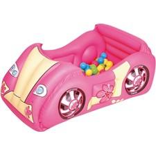 Uppblåsbar Racerbil Med Bollar, Rosa, Bestway