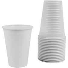Plastkrus, 21 cl, 100 stk., hvit