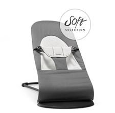 BabyBjörn Vippestol, Balance Soft, Mørkegrå/Grå Jersey