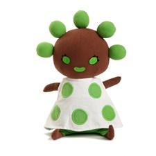 Brokiga mjukisdjur, Gröna Ärtan docka