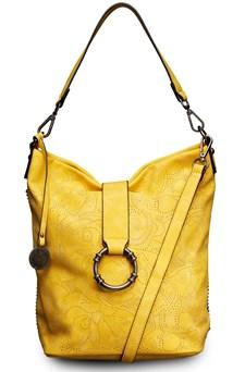 Väska Perforerad, metallkulor Gul