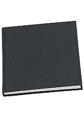 Anteckningsbok 150x150 mm Olinjerad Inbunden Svart