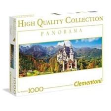 Puslespill Panorama Neuschwanstein, 1000 brikker, Clementoni