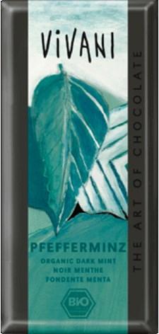 Vivani Mörk Choklad Mint 100 g Ekologisk