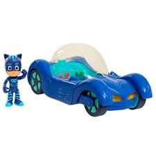 Figur med Fordon Deluxe, Kattpojken, Pyjamashjältarna