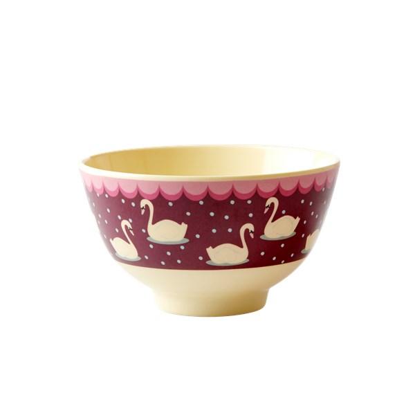 Rice Melamin Skål Dia 11 cm Bordeaux (rød) - tallrikar & skålar