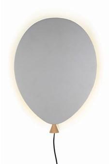 Globen Lighting Balloon Vägglampa B: 25 D: 4 H: 35 cm Grå / Ask