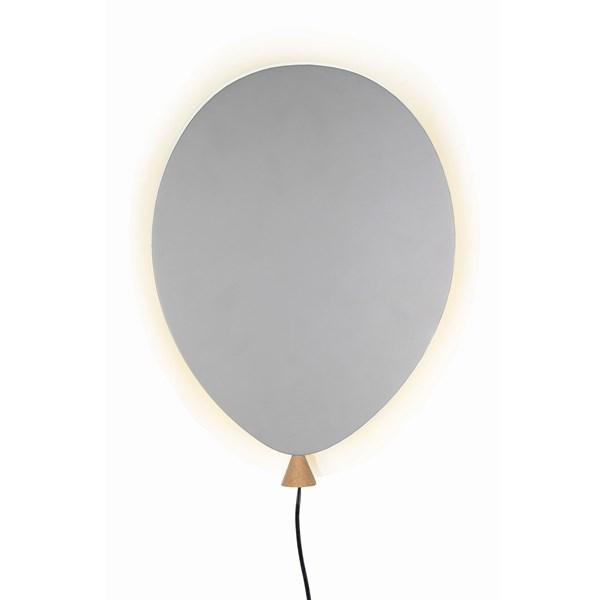 Globen Lighting Balloon Vägglampa B  25 D  4 H  35 cm Grå   Ask  Globen Lighting AB