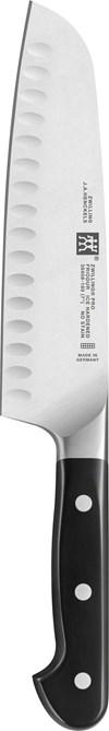 Zwilling Pro Japansk Kockkniv Santoku Olivslipning 18 cm Rostfritt Stål Svart