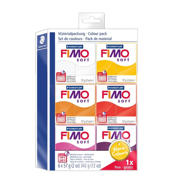 FIMO® soft Colour-pack  Warm Colours   5 + 1  STAEDTLER Fimo®