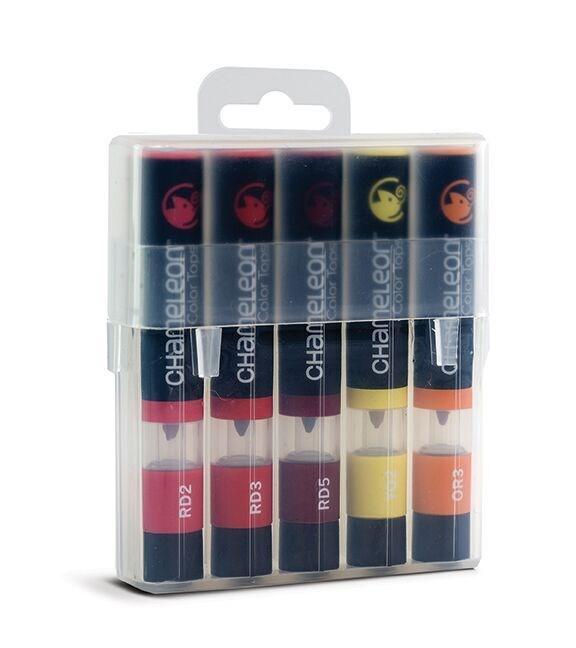 Chameleon Color Tops Pen Marker Tusj - Warm Tones