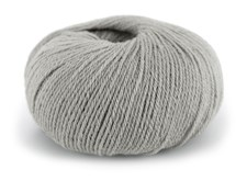 Dale Garn Pure Eco Baby Wool Ekologisk Ull 50 g Ljus Stålgrå 1302