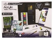 Stort reisesett, akryl – Art Instructor