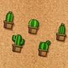 Tegnestift Kaktuser 5-pakning