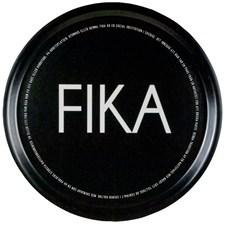 I Love Design FIKA Bricka Rund D: 38 cm Svart