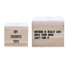 Förvaringlådor Favorite toys, 2-pack, Natur, Bloomingville