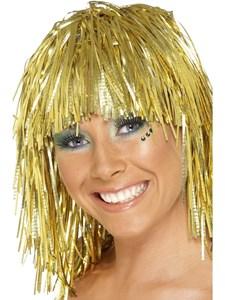 Glitterperuk Guld