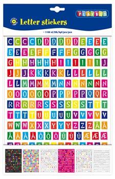 Klistremerker bokstaver 6 ark