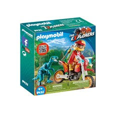 Motocrosscykel med raptor, Playmobil The Explorers (9431)