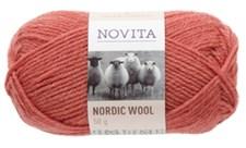 Novita Nordic Wool Garn Ullgarn 50 g, granatäppel 532