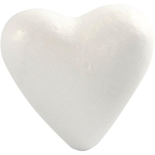Frigolithjärta 11 cm 5 st