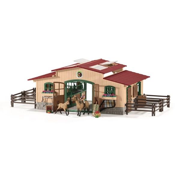 Ridcenter med ryttare och hästar 42195  Schleich - figurer & miniatyrer