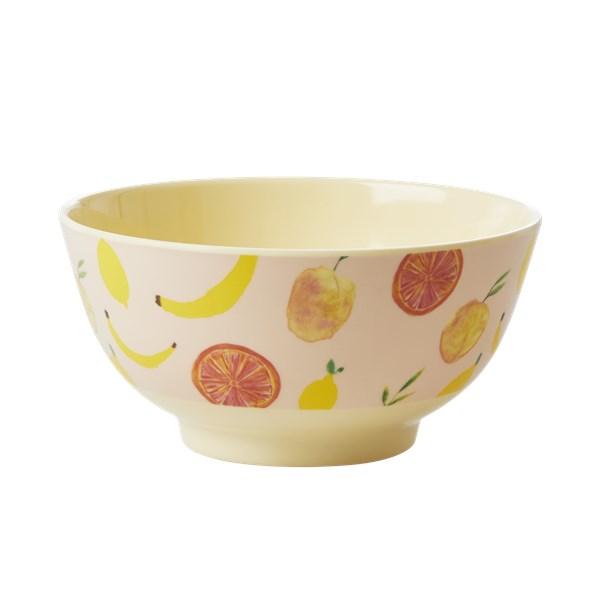 Rice Happy Fruits Skål D 15 Melamin Gul orange (gul) - tallrikar & skålar