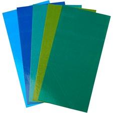 Color Dekor, ark 10x20 cm, 5 ass. ark, blå/grønn harmoni