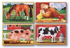 Maatila, 4 palapeliä laatikossa, Melissa & Doug