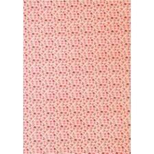 Itsekiinnittyvä kangas, Kukat, vaaleanpunainen, A4, polyesteri