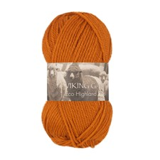 Highland Eco Wool 50 g Burnt Orange 244 Viking Garn