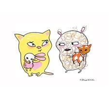 Vem affisch, Katt & Nalle