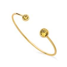 Moon Bracelet, Citrine Gold
