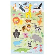 3D Klistremerke Zoo, 10 x 19 cm