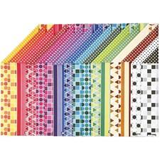 Color Bar - paperilajitelma, A4 210x297 mm,  100 g, kuvioitu, 16laj