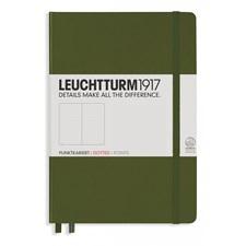 Anteckningsbok A5 Hard Army 249 p. Dotted Leuchtturm1923
