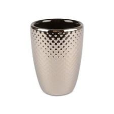Form Living Tandborstmugg Hamrad Keramik 8x11cm Silver