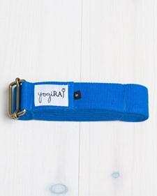 Yogabälte, ekologisk bomull, 305 cm - yogiRAJ - Blå