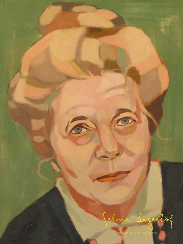 Porträtt Selma Lagerlöf Poster A4