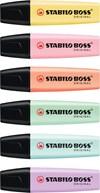 Överstrykningspenna STABILO BOSS Original pastell 6-pack