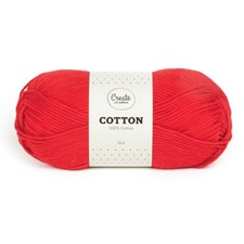 Adlibris Cotton Garn 100g Red A080