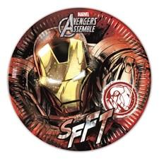 Iron Man Papptallerkener, 8 stk.