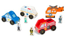 Emergency vehicle set, Melissa & Doug