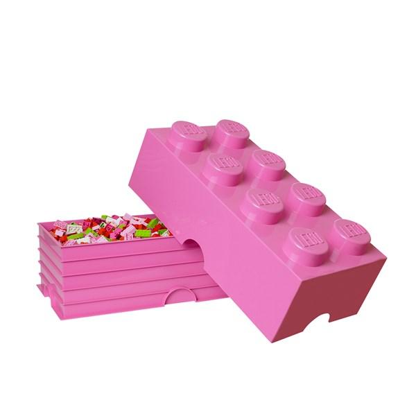 Lego Förvaringsbox 8  rosa - barnrumsförvaring
