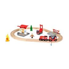 Tågset med brandmanstema, Brio Träjärnväg (33815)