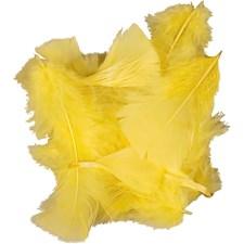 Höyhenet, koko 7-8 cm, 50 g, keltainen
