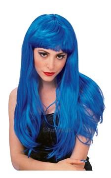 Peruk Glamour, Blå, Rubies