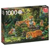 Tiger Family, Pussel 1000 bitar, Jumbo